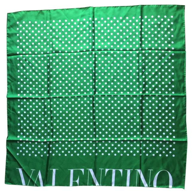 Valentino Green Classic Polka Dot Scarf/Wrap Image 1