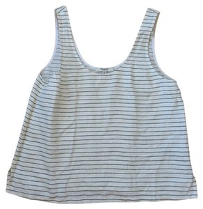 Madewell Linen Top Black and White Stripe