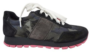 Prada Black with Pink Soles Athletic