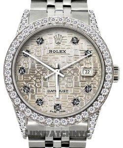 Rolex ROLEX MEN'S DATEJUST 2.5CT DIAMOND WATCH