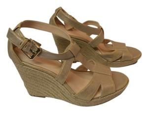 Calvin Klein Designer Sandal Dusty Metallic Wedges