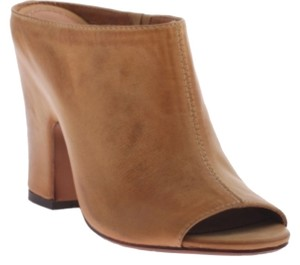 Nicole New Wedge Sandal Open Toe Tabacco Mules