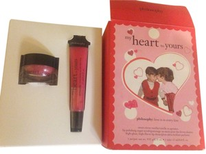 Philosophy my heart to yours lips scrub and lipgloss gift set pink