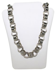 Ann Taylor Silver Tone Eye Necklace - item med img