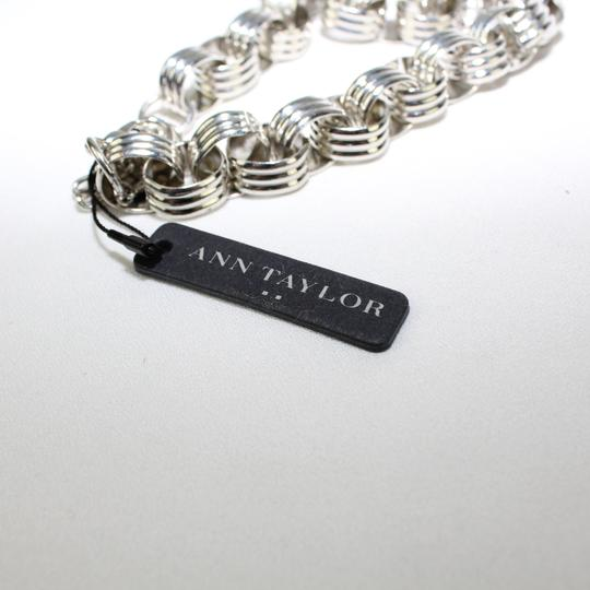 Ann Taylor Silver Tone Eye Necklace