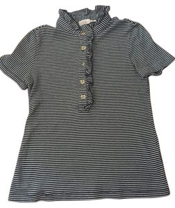 Tory Burch T Shirt Navy blue and white striped