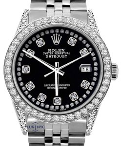 Rolex ROLEX MEN'S DATEJUST 5CT DIAMOND WATCH