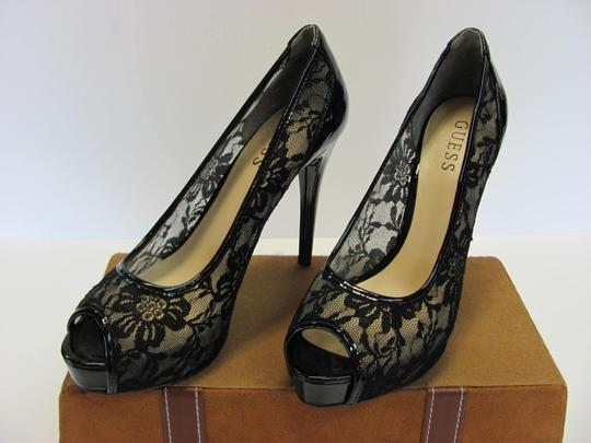 Guess Size 7.50 M Very Good Condition Black Platforms