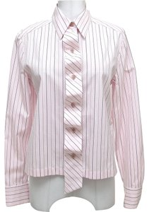 Chanel Button Down Shirt Pink, Brown