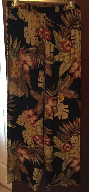 Karen Kane Rayon Imported Fabric Relaxed Pants Tropical Image 1