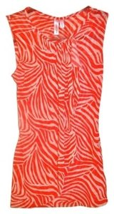 Sweet Pea by Stacy Frati Top Reddish Orange and White