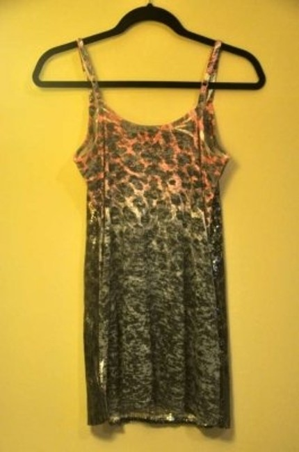 T Party Fashion Top Purple Gray and Black