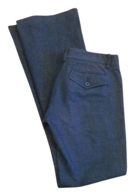 BCBGMAXAZRIA Max Azria High Pant 0 28 31 28 X 31 Size 0 Small Xs S Extra Small Pants Office Weekend Business Casual Trouser/Wide Leg Jeans-Dark Rinse Image 0
