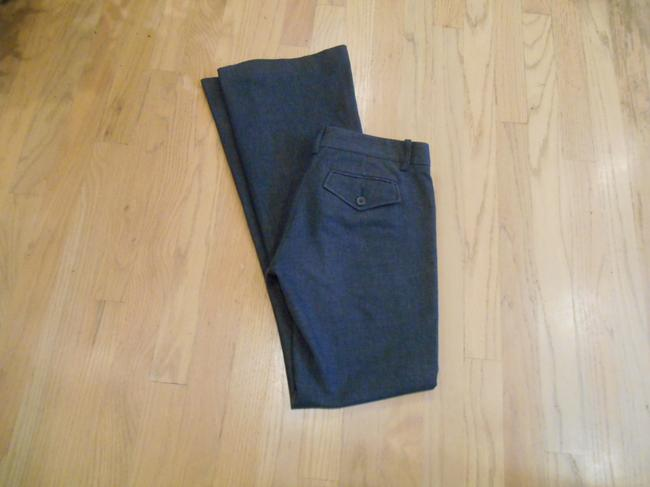 BCBGMAXAZRIA Max Azria High Pant 0 28 31 28 X 31 Size 0 Small Xs S Extra Small Pants Office Weekend Business Casual Trouser/Wide Leg Jeans-Dark Rinse Image 1