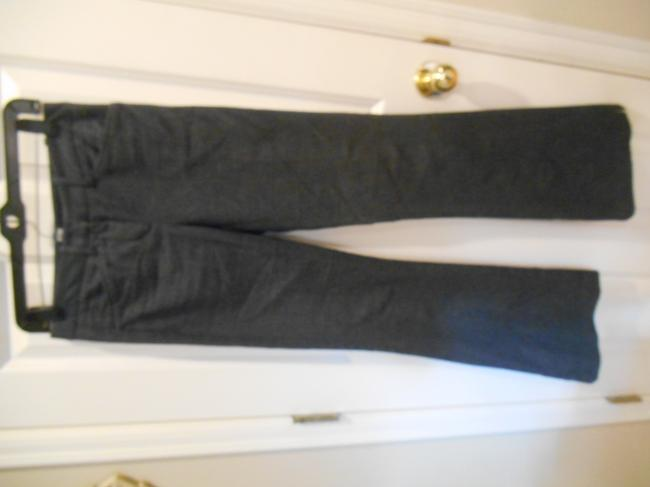BCBGMAXAZRIA Max Azria High Pant 0 28 31 28 X 31 Size 0 Small Xs S Extra Small Pants Office Weekend Business Casual Trouser/Wide Leg Jeans-Dark Rinse Image 3