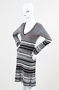 M Missoni Black White Dress
