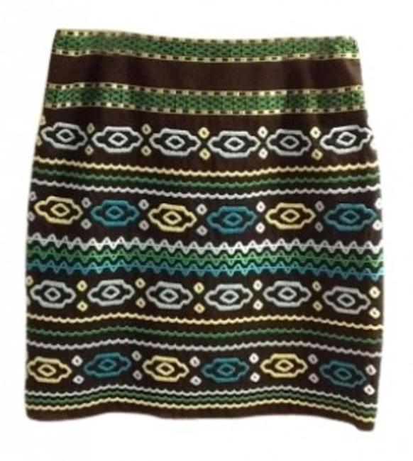 Preload https://img-static.tradesy.com/item/141982/etcetera-dark-brown-blue-green-never-worn-embroidered-knee-length-size-12-l-32-33-0-0-650-650.jpg