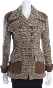 Chanel Jacket Tweed Bag BROWN Blazer