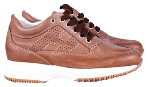 Hogan Leather Sneaker Leather Brown Athletic