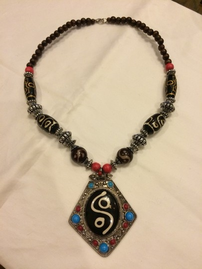 Other Necklace Tibet Silver Dzi Beads