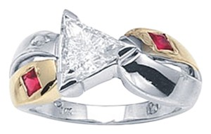 Ella Bridals Hand Made Triangle Diamond Ring