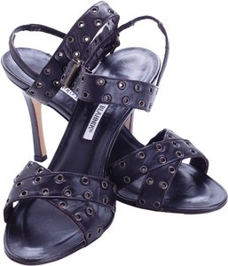 Manolo Blahnik Leather Brown Sandals