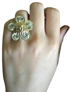 Chanel CHANEL Classic CC Crystal Flower Ring