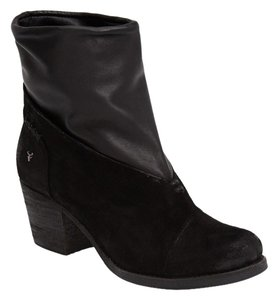 Italian Made H.S. TRASK Bootie Sale Black suede Boots