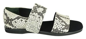 Vince Flats Beach Embossed Gray Sandals