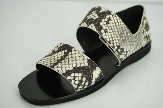 Vince Flats Beach Embossed Gray Sandals Image 1