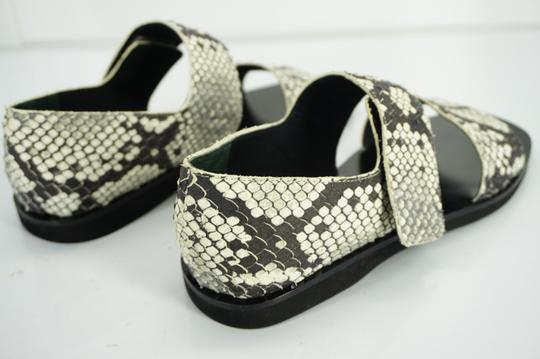 Vince Flats Beach Embossed Gray Sandals Image 2