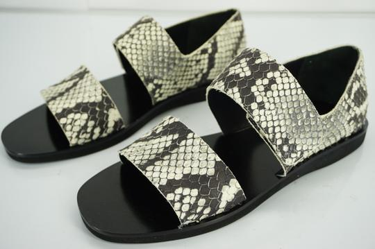 Vince Flats Beach Embossed Gray Sandals Image 3