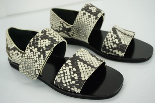 Vince Flats Beach Embossed Gray Sandals Image 4