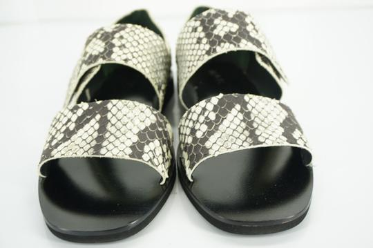 Vince Flats Beach Embossed Gray Sandals Image 7