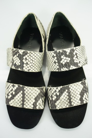 Vince Flats Beach Embossed Gray Sandals Image 8