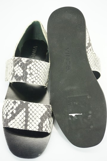 Vince Flats Beach Embossed Gray Sandals Image 9