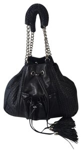 Zac Posen Woven Tassel Drawstring Urban Shoulder Bag
