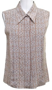 Chanel Button Down Shirt Brown, Grey