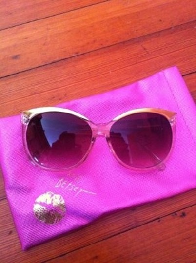 Betsey Johnson Oversized funky gold and clear Betsey Johnson