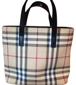 Burberry London Tote in Black, Beige, Red, White
