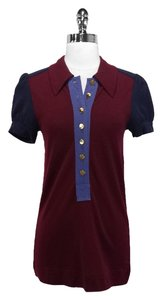 Marc by Marc Jacobs short dress Maroon/Navy Wool on Tradesy