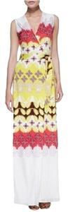 Indian Borders Yellow Maxi Dress by Diane von Furstenberg Maxi Wrap