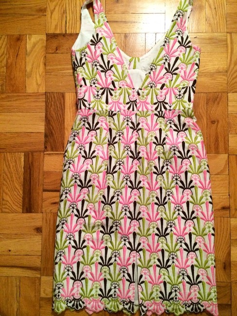 MILLY short dress Pink And Green on Tradesy