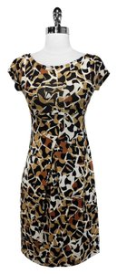 Diane von Furstenberg short dress Brown/Black Print Silk on Tradesy