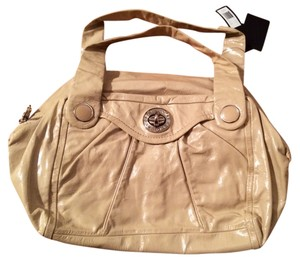 Marc by Marc Jacobs Patent Leather Satchel in Stucco