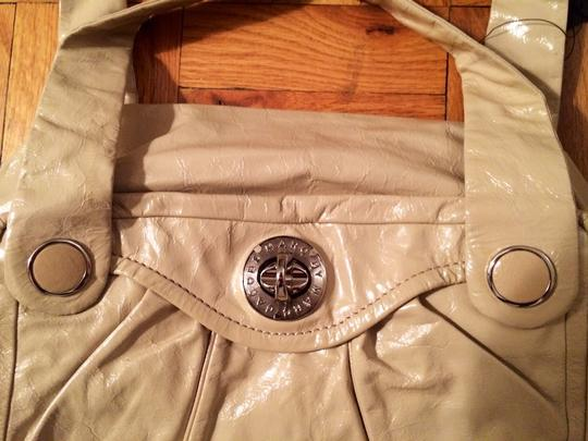 Marc by Marc Jacobs Patent Leather Satchel in Cream Image 1