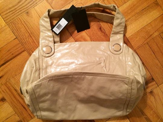 Marc by Marc Jacobs Patent Leather Satchel in Cream Image 4