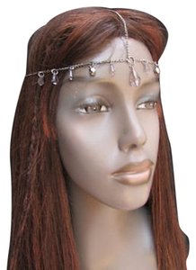 Women Gunmetal Pewter Color Metal Silver Head Chain Fashion Jewelry Big Bead