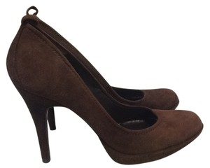 Pedro Garcia Suede Stiletto European Chic Brown Pumps