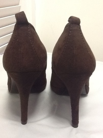 Pedro Garcia Suede Stiletto European Chic Brown Pumps Image 2